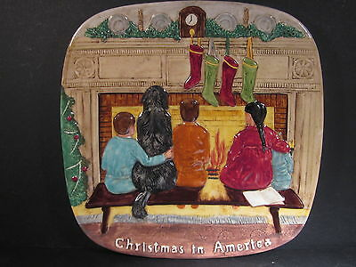 Beswick Royal Doulton  Christmas Around The World AMERICA Ltd Ed Plate  MIB