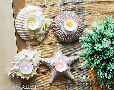 European Style Resin Shell Shape Candlestick Holder/Candlestick Four Pieces
