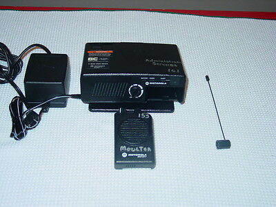 MINT MOTOROLA  MINITOR 5 V UHF 1 CH PAGER 450-457.9875MHz w/ STORED VOICE