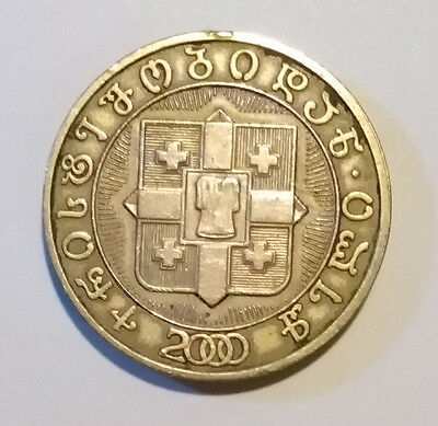 "2000 Georgia Georgien 10 Lari ""Christamas 2000 years"" VG Coin"