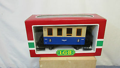 LGB 3015 G Scale Bavarian Second Class #2 Coach Car New old stock