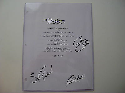Texas Chainsaw 3D Dan Yeager +Three Others Autographed Script Cover +Coa
