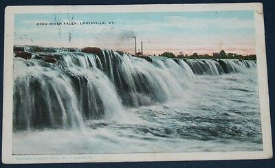 Ohio River Falls, Louisville, KY Postcard 1929