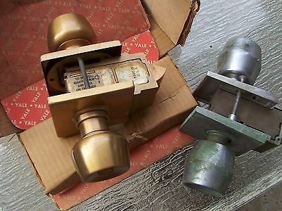 Vintage  NEW YALE and USE CORBIN  comercial entry door  locks      Locksmith