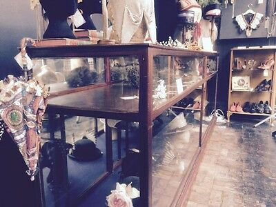 Jewellers Display Cabinet Oak 20th Century Vintage Retro Haberdashery Cabinet