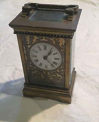 R & Co Vintage / Antique French Carriage clock with Key - Richard & Co