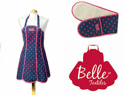 "Belle Textiles ""Penny"" - Apron Oven Gloves Tea Cosy Tea Towel - Made in the UK"