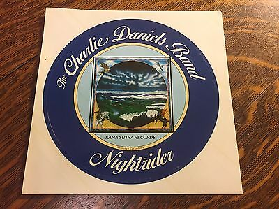 """Vintage Unused CHARLIE DANIELS BAND """"Nightrider"""" sticker/decal FREE SHIPPING"""