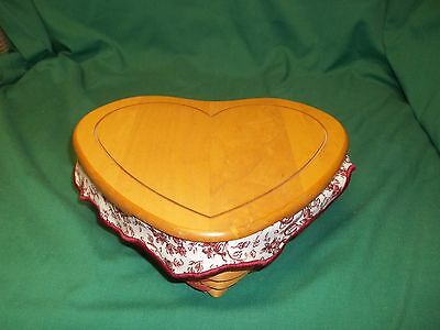 Longaberger Heart-Shaped 1999 Love Letter Combo w/Liner Protector Tie-On Lid