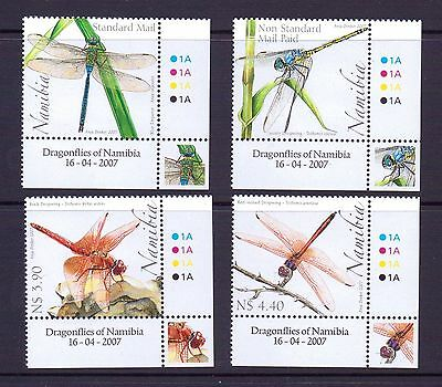 Namibia 2007 Dragonflies set unmounted mint.