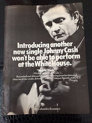 Johnny Cash Man In Black Debut Ad From Billboard Magazine March '71