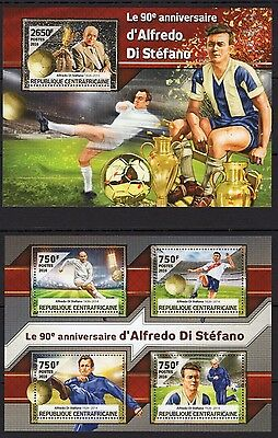 Central Africa  2016 - Football/Alfredo di Stefano - M/S +S/S  MNH**(A102)-9