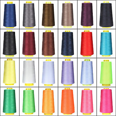 50 Colors 3000M Yards Overlocking Sewing Machine Polyester Thread Metre Cones