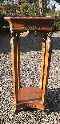 Antique walnut torchere hall console table display plant 'georgian/victorian