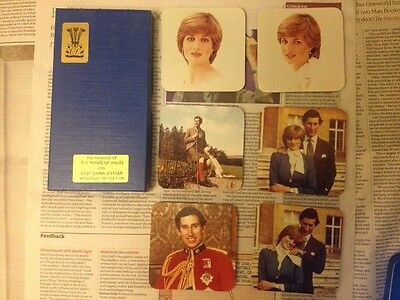 Prince Of Wales And Lady Diana Marriage Coaster Set