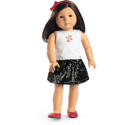 "American Girl TRULY ME SEQUIN SKIRT OUTFIT for 18"" Dolls Clothes Shoes NEW"