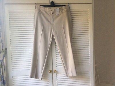 Marks and Spencer cream/beige ladies trousers size 20. Short. New