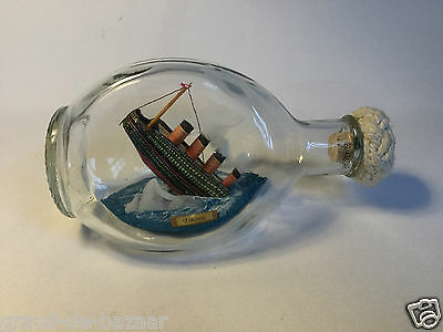 Ship in a Bottle TITANIC SINKING Made in England~ Rare Offer- Iceberg Ahead!