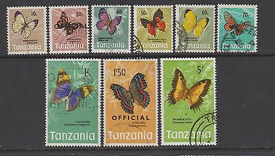 Tanzania 1973 - from SG159 Butterflies - 9 used