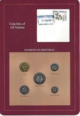 Coin Sets of All Nations - Dominican Republic, 5 Coin Set, Scarce