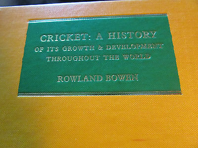 CRICKET : A HISTORY of it's growth and development