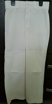 Under Armour Boys' Lead Off Baseball Pants Style 1237003 White Youth LG Like New