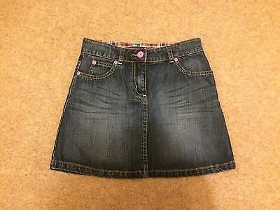 Girls Mini Boden Denim Skirt With Apple Appliqué Detail And Pockets Age 11-12 Yr