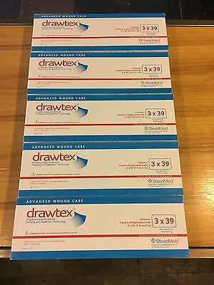 "4 Boxes of Drawtex with Levafiber 3"" X 39"" ROLLS 5 Rolls expire after 7/2018"