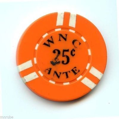 .25 Chip from the Wyandnotte Nation Casino in Wyandonotte Oklahoma