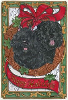 Bouvier des Flandres Holiday Cards by Pipsqueak Productions-12 pk with envelopes