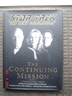 Star Trek The Next Generation: The Continuing Mission-1997- Hardcover - Exc Cond