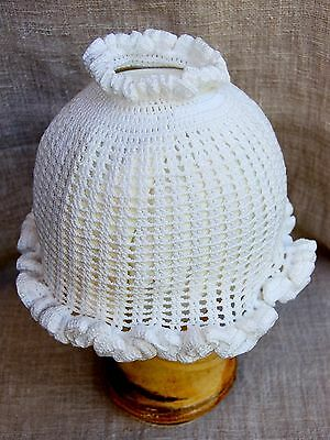 Girl's 6-12 months cotton knit ponytail sun hat,gift,baby shower,new baby