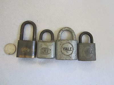 Vintage Lot Of 4~Locks Without Keys~Yale~Corbin~Wb