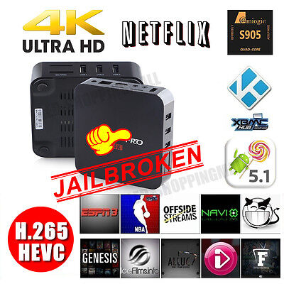 UK S905 KODI XBMC Fully Loaded 4K Quad Core Android5.1 TV Box Online Player HDMI