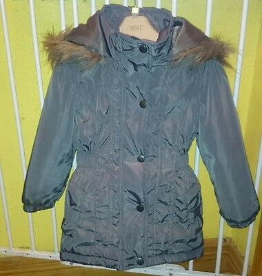bnwot Dunnes Stores Girls Grey Winter Parka style coat, age 3