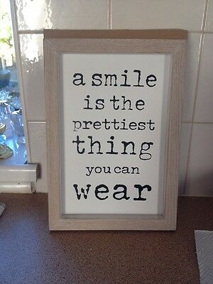 """Framed Quote 12"""" High New with Box"""