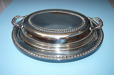 Wm. A Rogers Silver Plated Serving Dish with Glass Insert