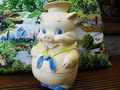 Squeak Squeaky Edward Mobley Co. Sailor Pig Vintage Toy Doll