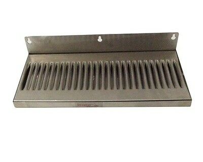 """Home Brew Stuff 6"""" x 14"""" Stainless Steel Wall Mount Draft Beer Drip Tray"""