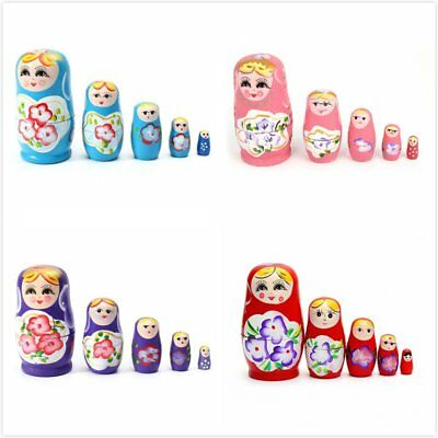 Beautiful Russian Matryoshka Nesting Dolls 5 Pieces Set Gift Souvenir Toy UK