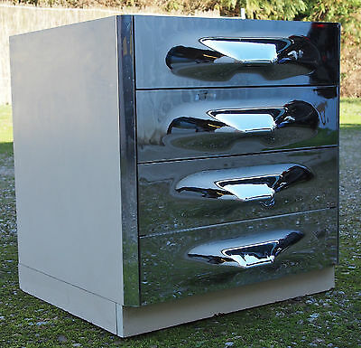 meuble commode buffet Raymond Loewy design 60 70 vintage space age 1970