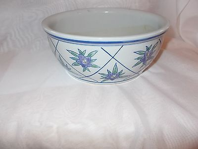 Vintage Aaa Imports Decoware Fine Pottery Planter  Blue, White Purple Oriental