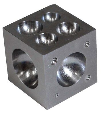 "2"" Steel Dapping Block Jewelry Shaping Metal Forming Tools Doming 18 Cavities"