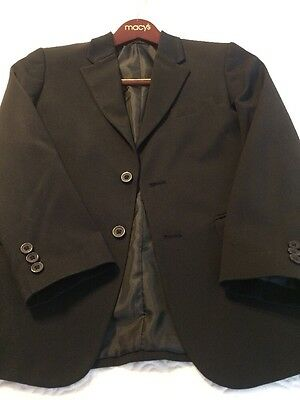 Boys Suit By IZOD 12 Regular Jacket And Pants! Very Nice!! Black