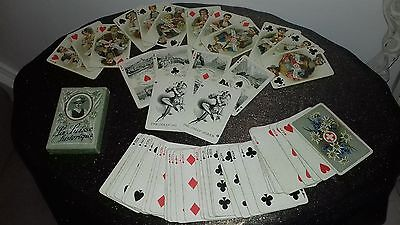 Playing cards. Antique J. Muller La Suisse historique No33. gilded corners 1910.
