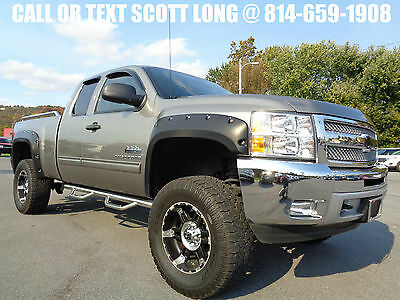 "2013 Chevrolet Silverado 1500 2013 Extended Cab 4x4 LT 6 Inch Lift 35"" Tires 4WD 2013 Silverado 1500 Ext Cab 4x4 Lift Wheels 35 Tires LT 5.3L V8 1 Owner Video"