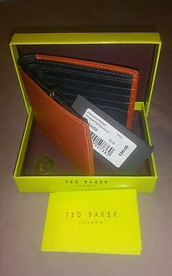 ☆Ted Baker☆ * Brand New* Men's Leather Wallet Rrp:£50