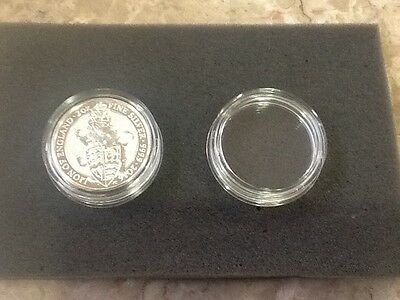 Authentic screw capsule for 2 oz silver queens beast coins, from Royal mint hard