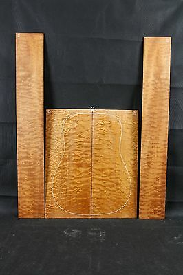 Quilted sapele AcousticGuitar Back & sides Tonewood Luthier
