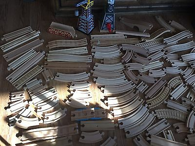 Large Lot Thomas The Train Wooden Railway Tracks & Accessories Straight Curved